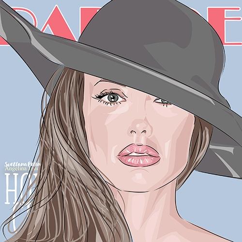 Angelina Jolie par svetliaciok
